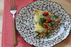 Spinach, Tomato and Egg Pie