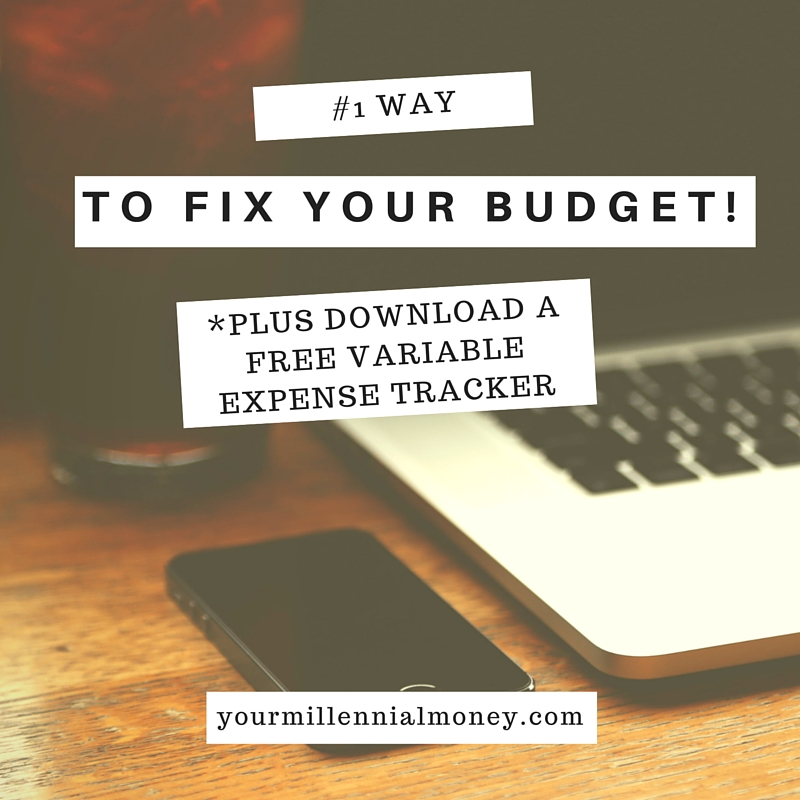#1 WAY TO FIX YOUR BUDGET