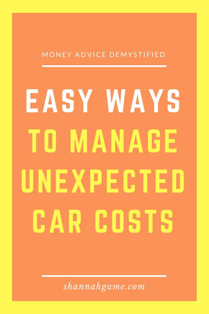 Easy Ways to Manage Unexpected Car Costs