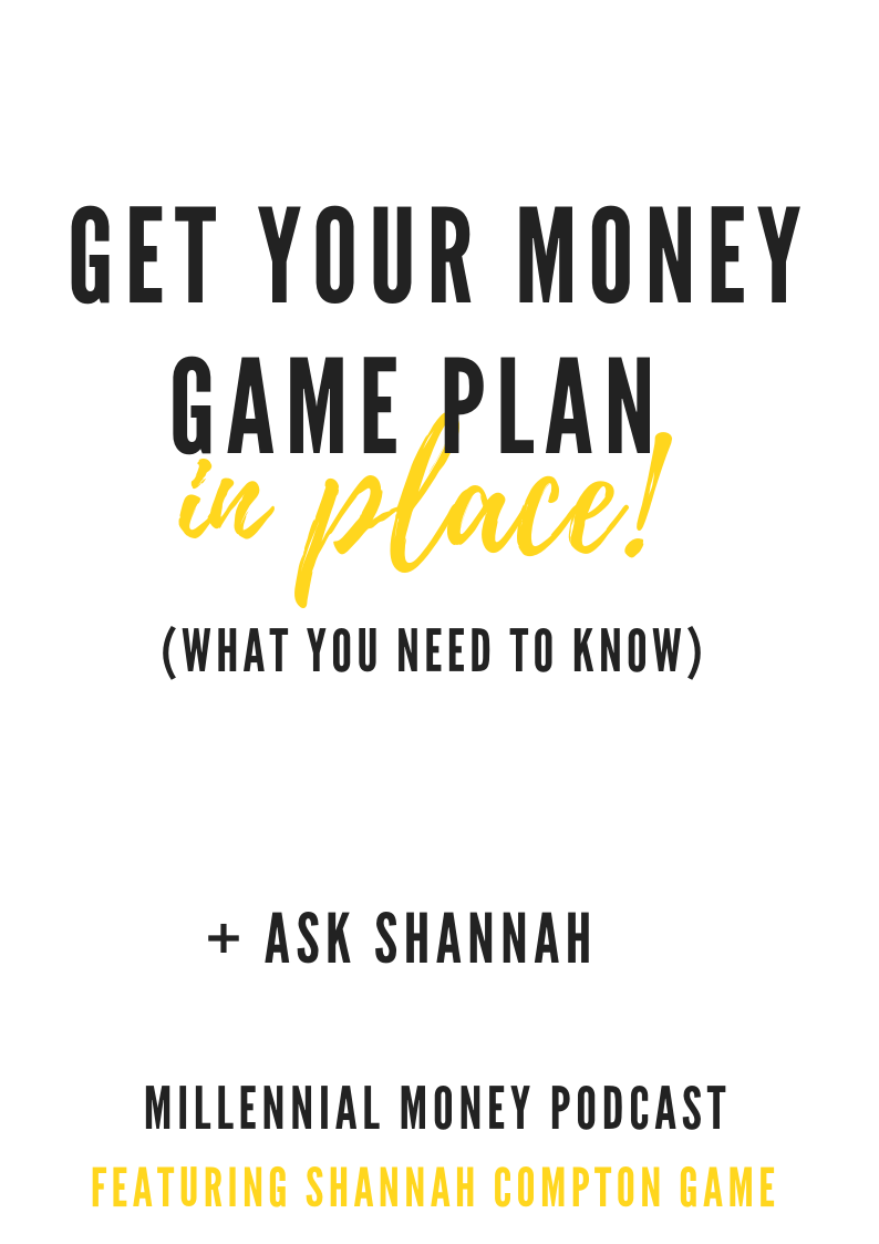 Get Your Money Game Plan in Place
