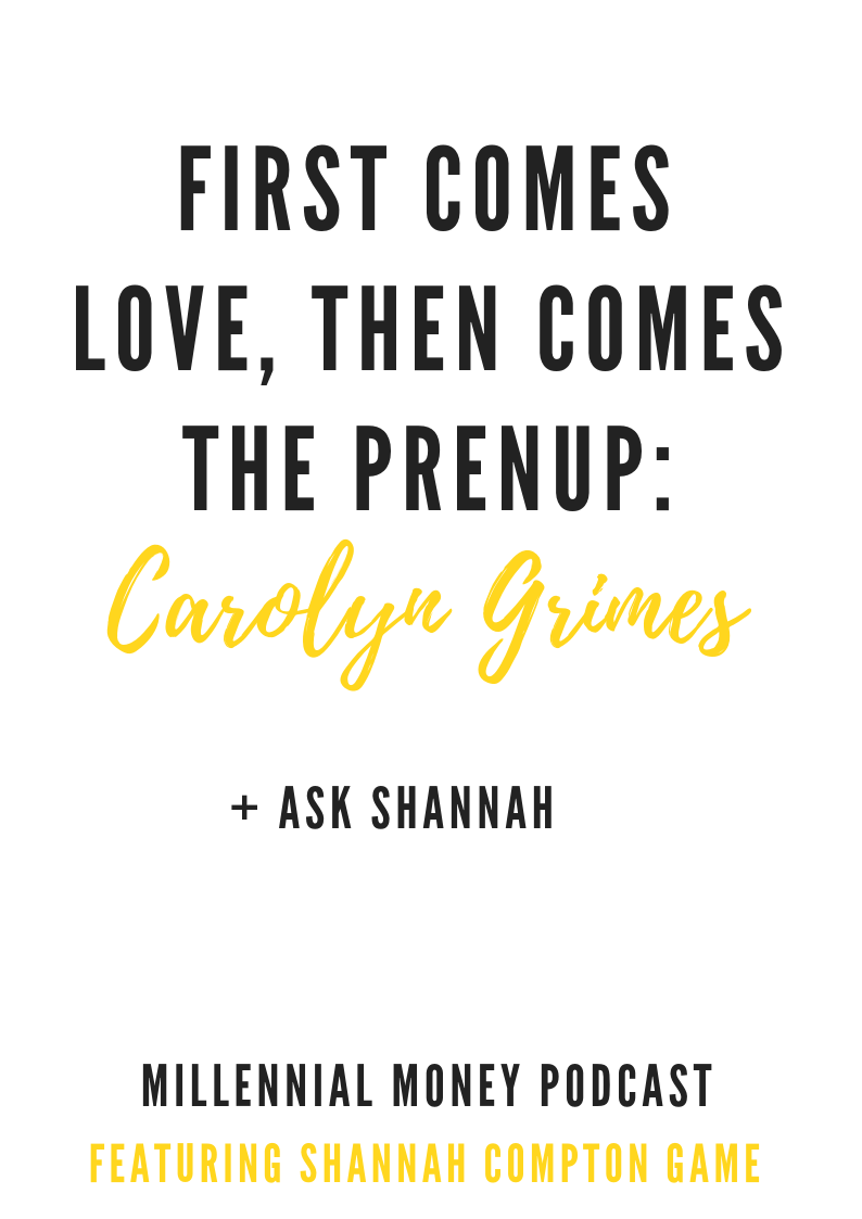 First Comes Love, Then Comes the Prenup