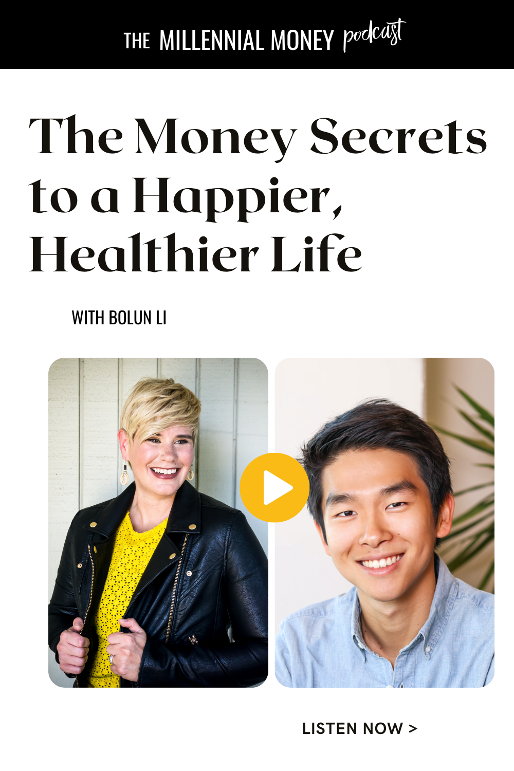 Podcast episode about creating a healthier and happier life with Bolun Li